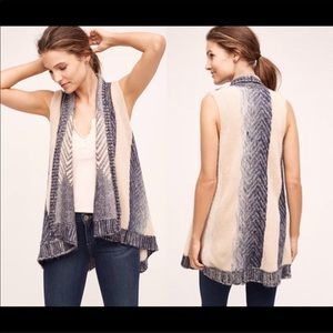 Anthropologie Long Vest